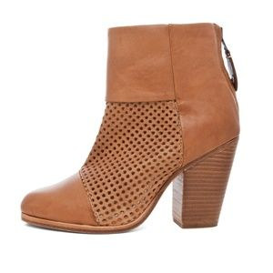 Rag & Bone Newbury Perforated Tan Leather Boots